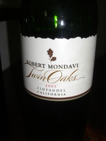 Robert Mondavi Twin Oak – Zinfandel 2005