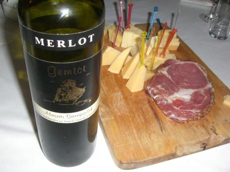Alaçatı Şarapçılık Gemici Merlot 2007 - Peynir ve Kuru Et eşliğinde :)