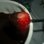 Çikolataya bulanmış çilekcik :)
